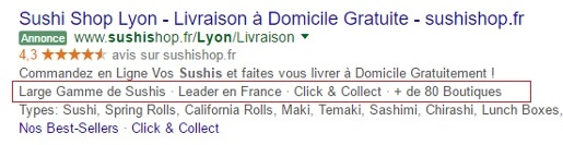 extension accroche adwords